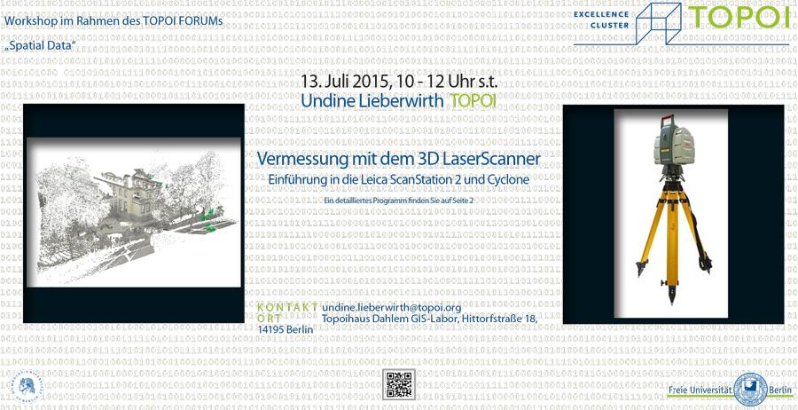 Vermessungen mit dem 3D Laserscanner | Workshop-Flyer
