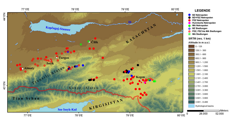 Overview of geoarchaeological research at Zhetisu, south-eastern Kazakhstan (archaeological results) | © Anton Gass