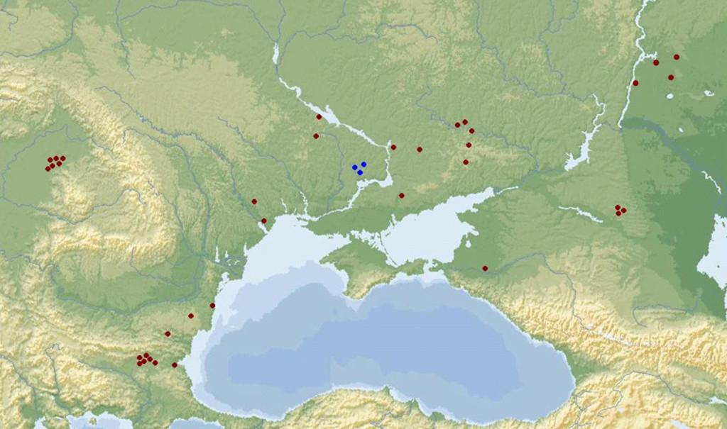 Samples from the the Northern Pontic and its adjacent areas
