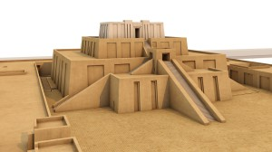 Technical reconstruction of the Eanna ziggurat of the 21st century BCE in the central district of Uruk (Warka, Iraq)
