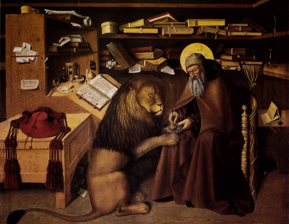 Colantonio, Hieronymus im Gehäus, Neapel, Museo di Capodimonte | Source: Lucco, Mauro: Antonello da Messina, Mailand: 24 Ore Cultura, 2011