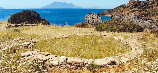 Middle Bronze Age site of Punta Milazzes on Panarea| © Helen Dawson