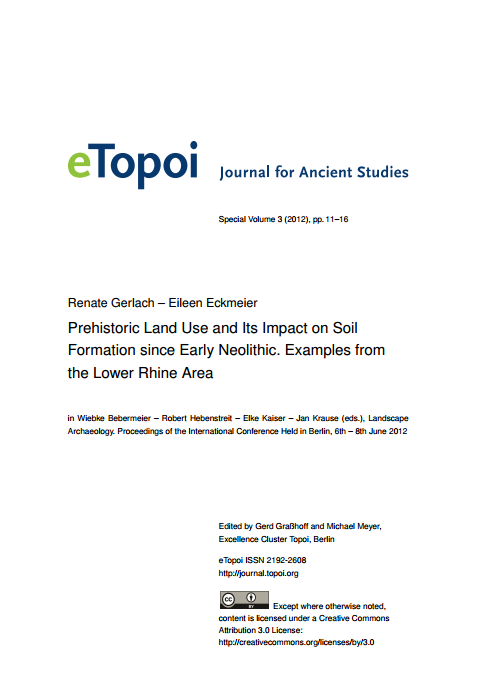 Edition topoi artikel prehistoric land use and its for Origin and formation of soil