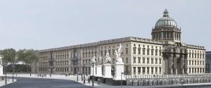 View of the Humboldt-Forum on the Schloßplatz in Berlin