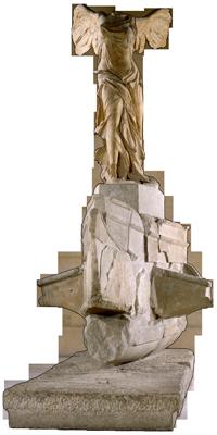 Nike von Samothrake, Skulptur, Marmor (3./2. Jh. v. Chr.), Paris, Musée du Louvre, MA2369 © bpk | RMN - Grand Palais | Gérard Blot | Christian Jean