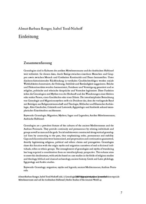 Edition Topoi Artikel Einleitung