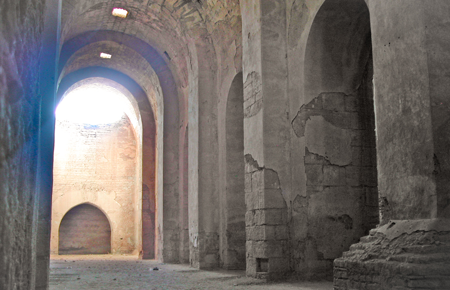 Resafa, Syria. Great cistern, view to the east, 2006. (M. Gussone 2006)