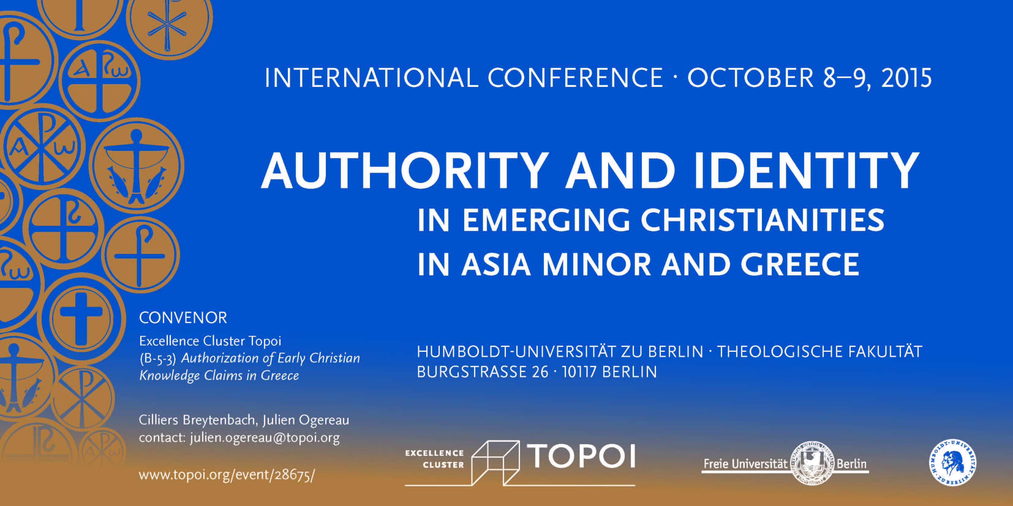 "Conference Flyer ""Authority and Identity"""