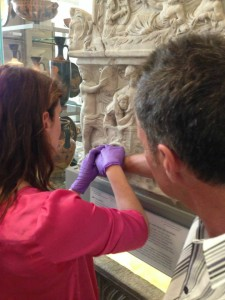 A touch tour for visually impaired guests in the Greek and Roman. © Fitzwilliam Museum, Cambridge