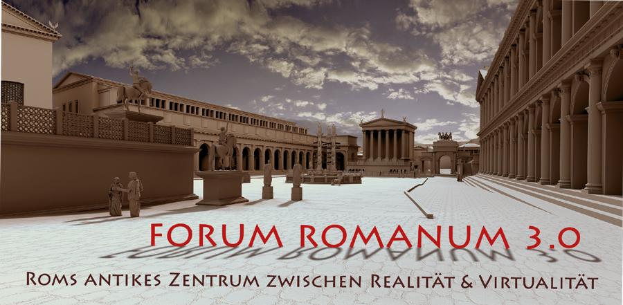 Ausstellungsflyer Forum Romanum 3.0