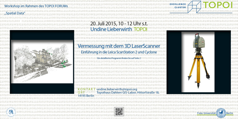 Vermessungen mit dem 3D Laserscanner | Workshop-Flyer