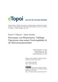 eTopoi Special Volume 5 Cover