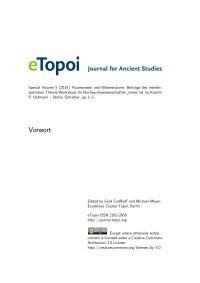 eTopoi Special Volume 5 Cover: Vorwort