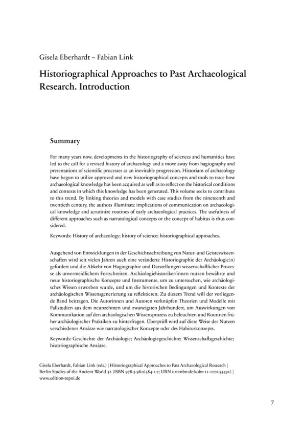 Historiographical Approaches to Past...