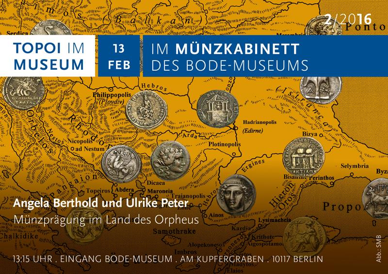Topoi im Museum: Flyer mit Landkarte und thrakischen Münzen