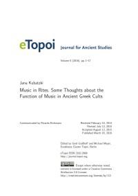 Cover eTopoi Volume 5 Artikel Kubatzki