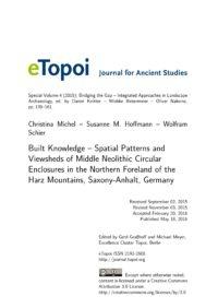 Cover Artikel Michel et al. eTopoi Special Volume 4