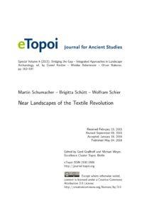 Cover Artikel Schumacher et al eTopoi Special Volume 4
