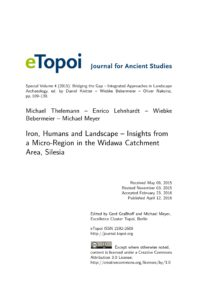 Cover eTopoi Special Volume 4 Artikel Thelemann et al