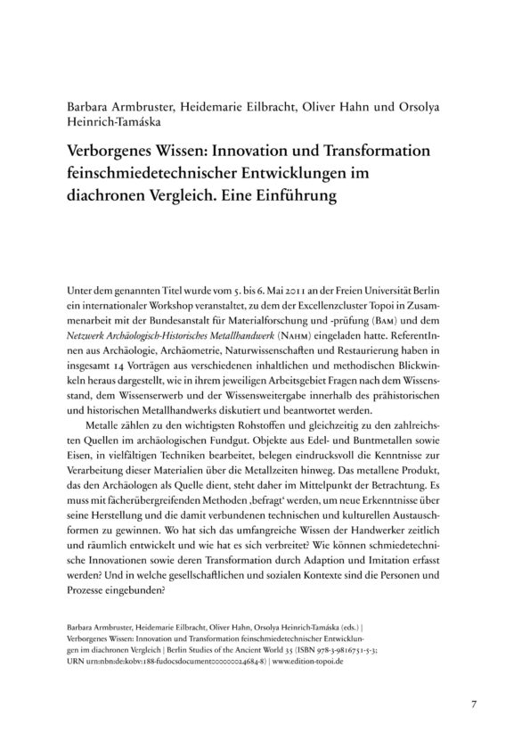 Verborgenes Wissen. Innovation und...