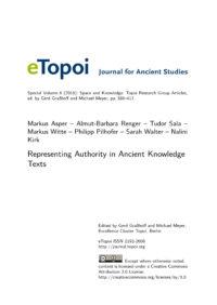 Cover Artikel Asper et al. eTopoi SpV 6