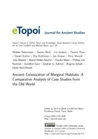 Cover Artikel Bebermeier, Beck et al. eTopoi SpV 6