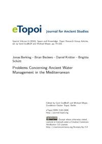 Cover Artikel Berking et al. eTopoi SpV 6