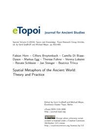 Cover Artikel Horn et al. eTopoi SpV 6