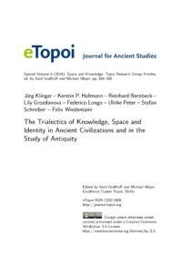 Cover Artikel Klinger et al. eTopoi SpV 6