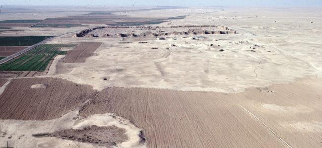 Schrägluftaufnahme von Resafa und südliches Umfeld | Foto: Manfred Stephani 1999
