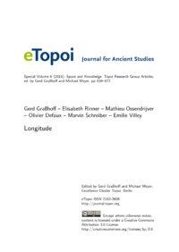 Cover Artikel Graßhoff et al. eTopoi SpV 6