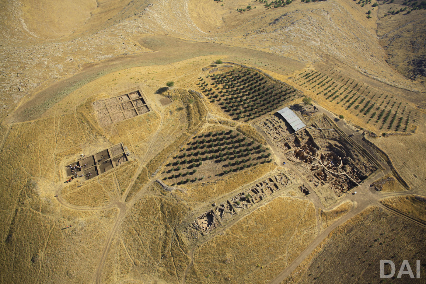 Aerial view of the Göbekli Tepe excavations | Photo: German Archaeological Institute, Erhan Kücük