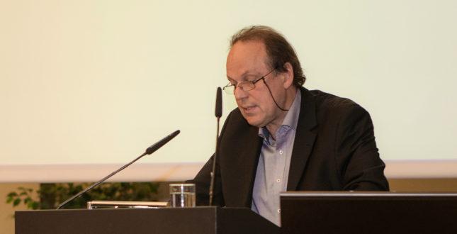 Jürgen Renn während einer Rede auf der Kick-off Veranstaltung Edition Topoi | Foto: Waldemar Brzezinski | © EXC Topoi