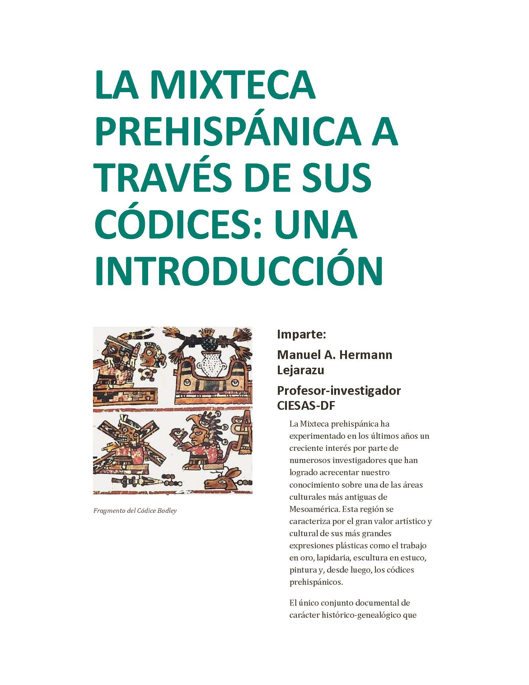 Mixtec Workshop Poster