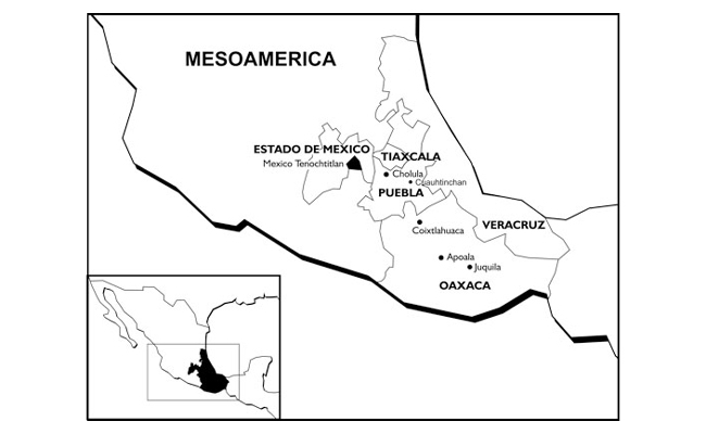 Overview map Mesoamerica