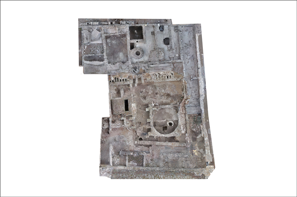Pompeii, Republican Baths | Aerial Photo by S. Muratore | Copyright: Topoi research projects A-3-7, C-6-8