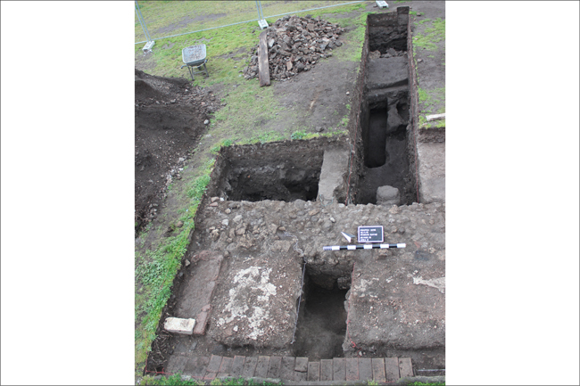 Excavation of the Stabian Baths in Pompeii | © Monika Trümper