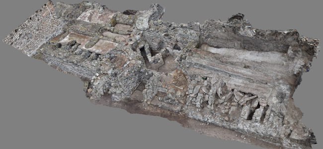 3D-Model of the Republican Baths in Pompeii | © Monika Trümper