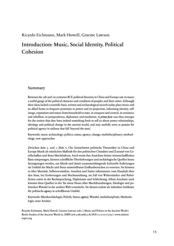 Music and Politics in the Ancient...