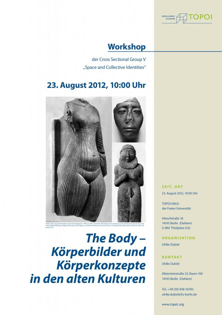 The Body – Körperbilder und Körperkonzepte in den alten Kulturen   Topoi