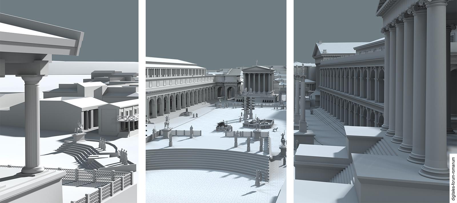 Forum Romanum 3.0. Roms antikes Zentrum zwischen Realität ...