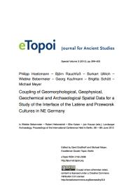 etopoi. Special Volume 3 | Philipp Hoelzmann et al