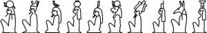 Reihung der Göttergruppe von Heliopolis