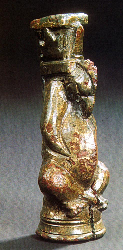 Griff eines römischen Klappmessers, Fürstengrab von Gommern