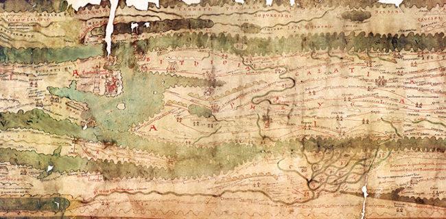 Ausschnitt der Tabula Peutingeriana
