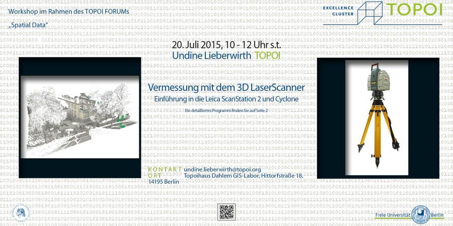 Vermessungen mit dem 3D Laserscanner   Workshop-Flyer