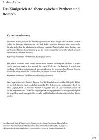 """Cover Artikel """"Das Königreich Adiabene zwischen Parthern und Römern"""""""