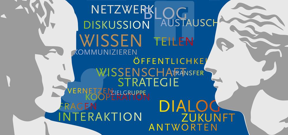 Social Media in den Altertumswissenschaften: Veranstaltungsflyer