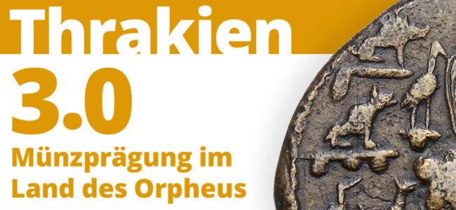 Thrakien 3. 0 | Ausstellungseröffnung Banner mit thrakischer Münze |© Muenzkabinett-SMB