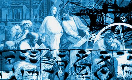 Raphael, Die Schule von Athen, Umzeichnung